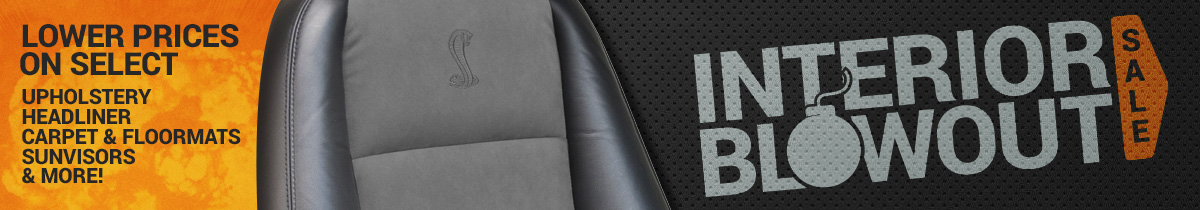 Mustang Interior Blow Out Sale!